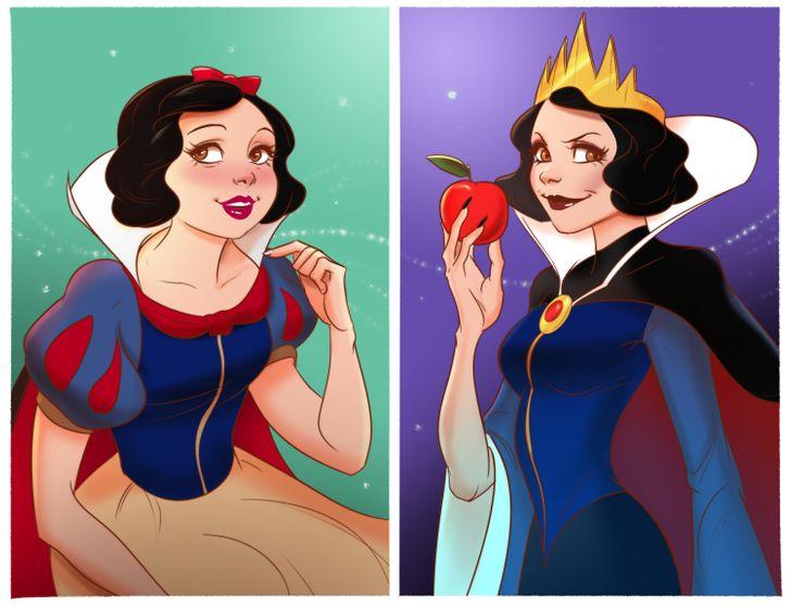 Как бы выглядели 14 диснеевских принцесс, если бы они были злодеями в фильме